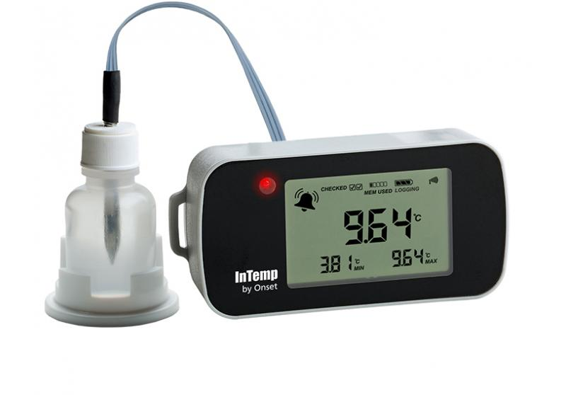 InTemp VFC Bluetooth Low Energy 2M Temperature with 15ml Glycol Bottle Data Logger (CX402-VFC215)