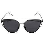Cat Eye Mirrored Flat Lens Sunglasses