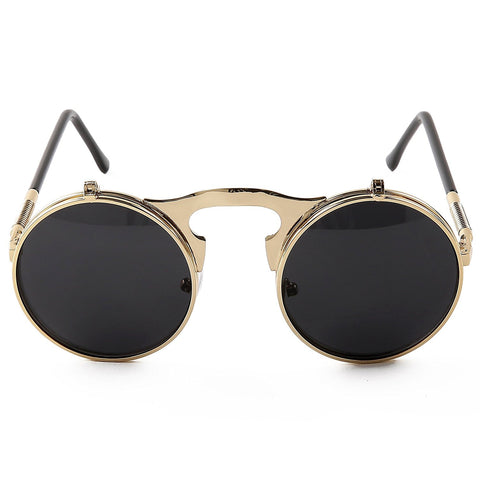 Vintage Round Flip Up Sunglasses - New Collection Summer 2017