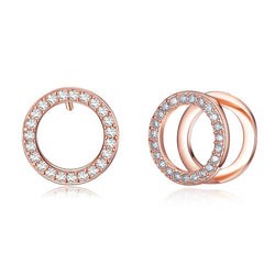 Double Circle Pierced Earrings