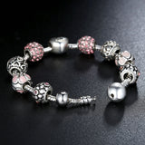 Love Charm Bracelet - in 4 Different Colors