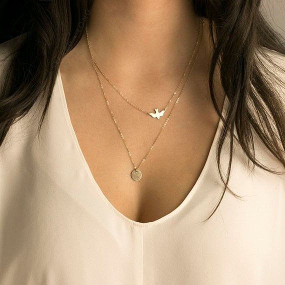 Dove Gold Necklace