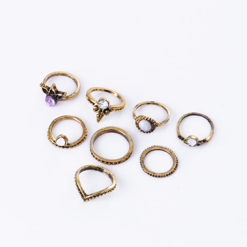 Bohemian Rings - Set of 8 Pieces - Summer 2018