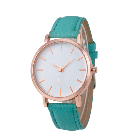 Rose Gold Quartz Watch - in 8 Different Colors