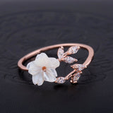 Shell Flower Ring