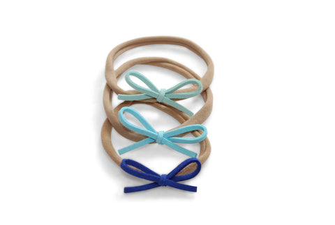 Dainty Bows - Shades of Blue