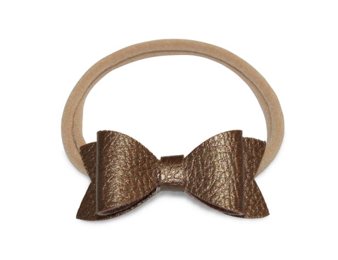 Bowtie Headband in Bronze