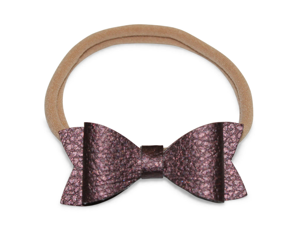 Bowtie Headband in Eggplant