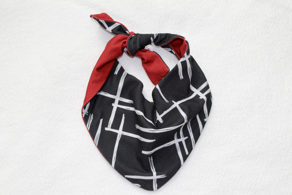 Darling Drool Bib in Monochrome