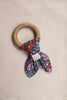 Organic Teething Ring in Berry Blossom