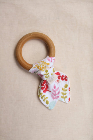 Organic Teething Ring in Spring Floral
