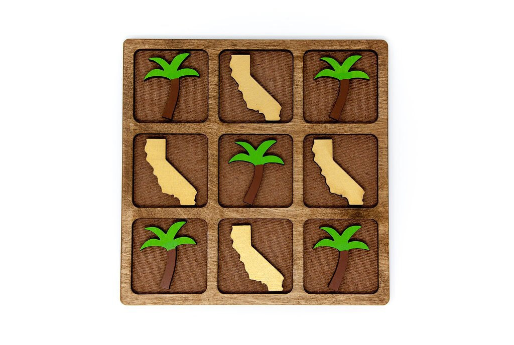 CA vs. Palm Tree Tic-Tac-Toe