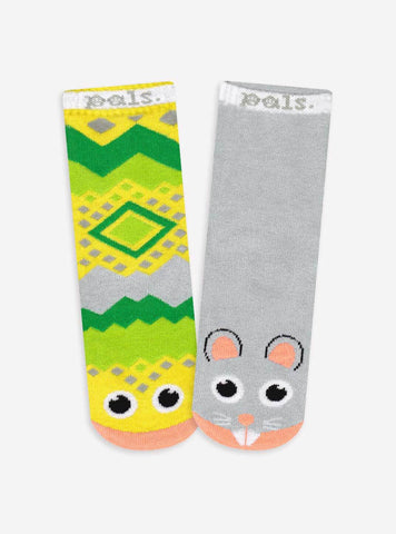 PALS Snake & Mouse Socks