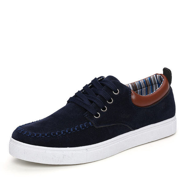 Men Breathable Lace Up Flat Casual Shoes, Men Shoes, Stylenol- Stylenol