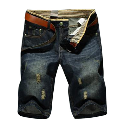 New Short Jeans Zipper Denim Blue Men Pants, Men Pants, Stylenol- Stylenol