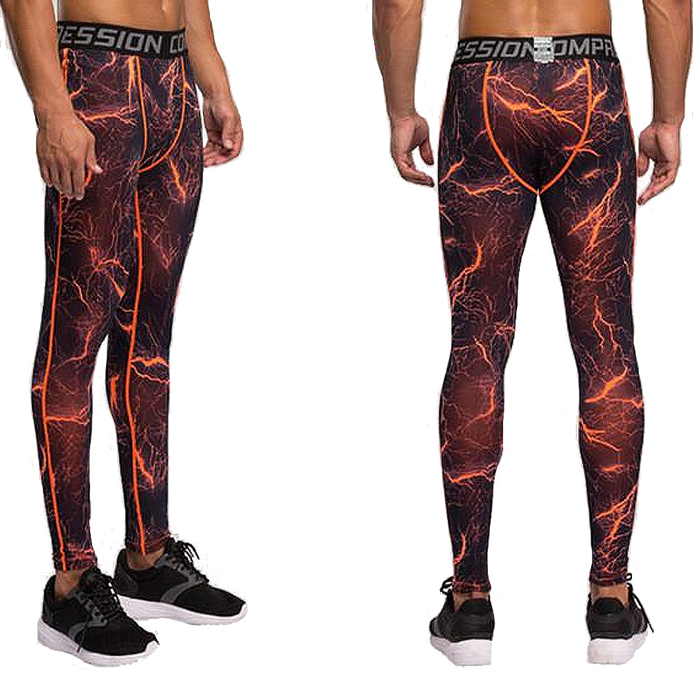 85ba773cfca24 Men Compression Tights Bodybuilding Jogger Fitness Exercise Leggings  Athletic Long trousers Pants, Leggings, Stylenol