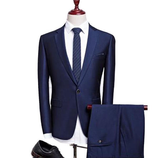 New Business Perfect Skinny Fit Formal Suit Men Cotton Set, Men Suit Set, Stylenol- Stylenol