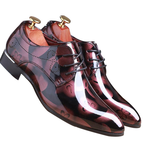 Men Italian Patent Leather Luxury Flat Office Dress Dhoes, Men Shoes, Stylenol- Stylenol