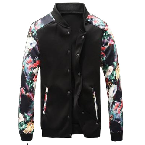 Men Sleeve Casual Baseball Bomber Zipper Men Casual Jacket, Men Jackets, Stylenol- Stylenol