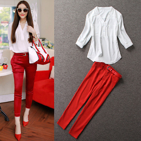 2 Pcs Formal Overalls Suits Set, Suits, Stylenol- Stylenol