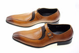 Leather Brown Formal Buckle Dress Tan Shoes, , Stylenol- Stylenol