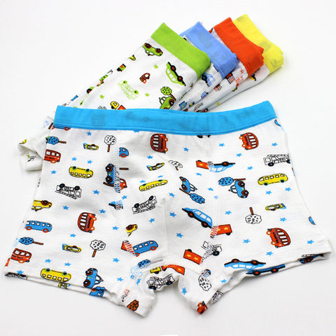 5 Pcs/bag Car Design Boy Underwear, Boys Underwear, Stylenol- Stylenol