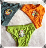 12 Pcs/lot Cartoon Print Boys Underwear, Boys Underwear, Stylenol- Stylenol