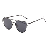 New Cat Eye Twin-Beams Mirror Sunglasses, sunglasses, Stylenol- Stylenol