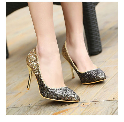 Women Glitter High Heels Pumps Shoes, Pump Shoes - Stylenol