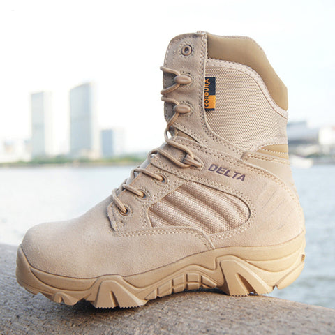 Men Military Leather Special Force Boots, Men Boots, Stylenol- Stylenol