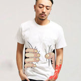 Men 3D Big Hand Short Sleeve Cotton T Shirt, , Stylenol- Stylenol
