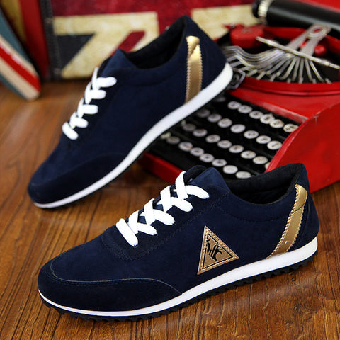 Men Breathable Leather Flat Casual Cotton Shoes, Men Shoes, Stylenol- Stylenol