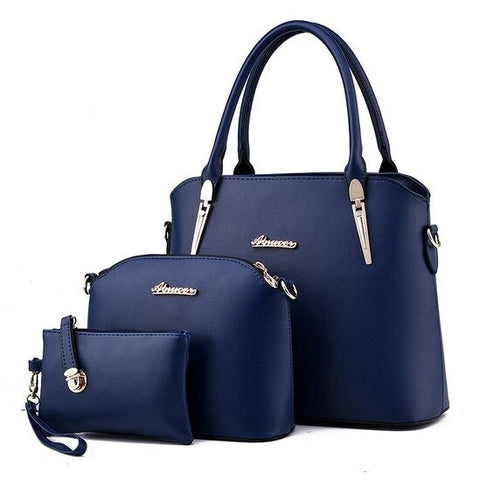 Faux Leather Handbag and Purse Set, , Stylenol- Stylenol