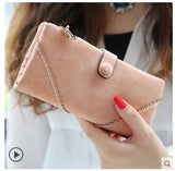 Women New Retro Matte Stitching Long Wallet, Wallet, Stylenol- Stylenol