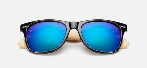 Unisex Retro Bamboo Wood Mirror Sunglasses, sunglasses, Stylenol- Stylenol