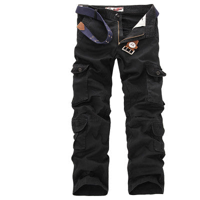 Heavy Duty Military Cargo Loose Baggy Zipper Polyester Tactical Men Pants, Men Pants, Stylenol- Stylenol