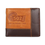 Men Pocket Zipper Leather Wallet, Wallet, Stylenol- Stylenol