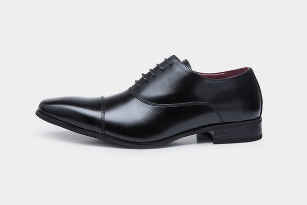 Men Leather Oxford Luxury Flat Dress Shoes, Men Shoes, Stylenol- Stylenol