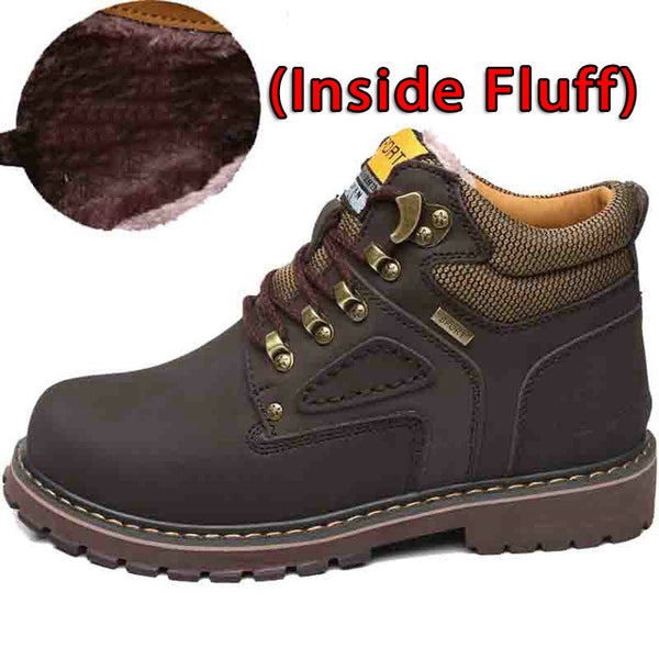 Men Leather Waterproof Leisure Snow Boots, Men Boots, Stylenol- Stylenol