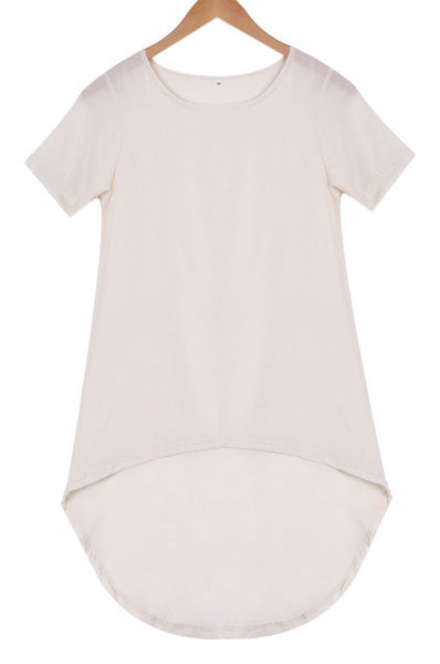 Short Sleeve Loose Casual Plus Tee Shirt, Women Shirts - Stylenol