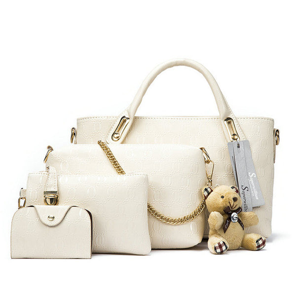 Women New Top-Handle Leather Composite Bag, Handbags - Stylenol
