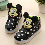 Unisex Cartoon Dots LED Light  Sneakers, Kids Shoes - Stylenol