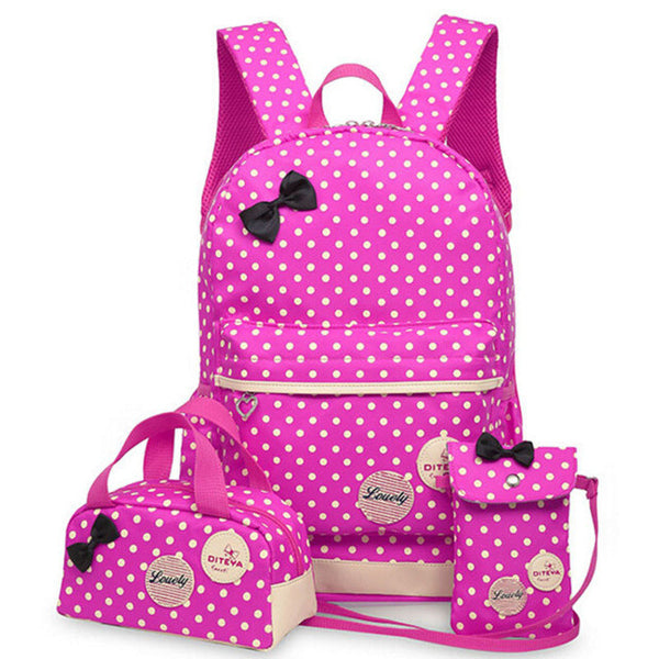 3 Pcs/Set Teenagers Girl School Backpack, Backpack, Stylenol- Stylenol