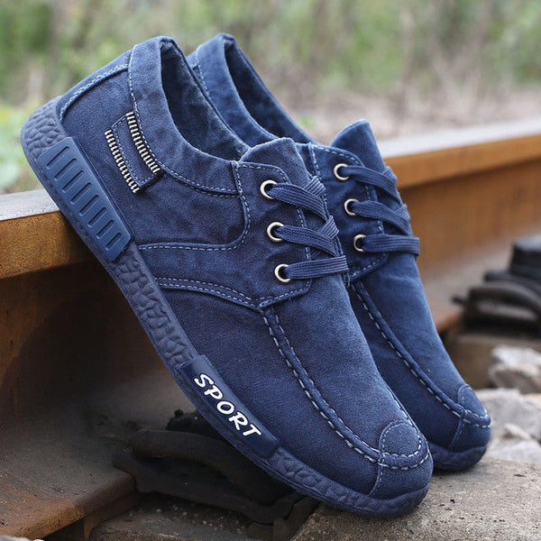 Men Breathable Denim Gumshoe Casual Shoes, Men Shoes, Stylenol- Stylenol