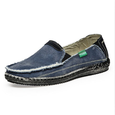 Men Breathable Jeans Slip Casual Loafer Shoes, Men Shoes, Stylenol- Stylenol
