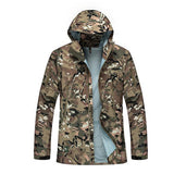 Hooded Military Windbreaker Hardshell Casual Jacket, Men Jackets, Stylenol- Stylenol