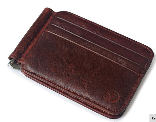 Men Retro Cow Leather Wallet, Wallet, Stylenol- Stylenol