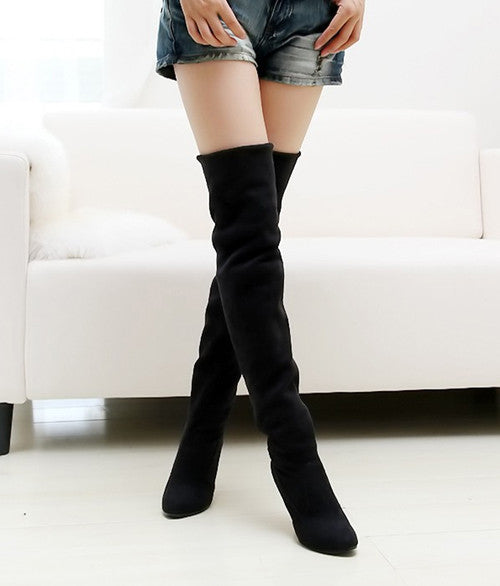 Women Stovepipe Over the Knee High Heels Long Boots, Boots - Stylenol