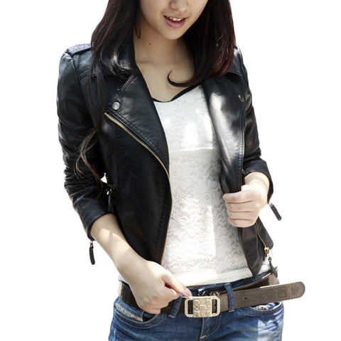 New Full Sleeve Zipper Slim Leather Jacket, Jackets, Stylenol- Stylenol