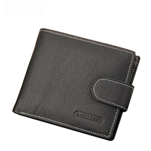 Men Leather Short Wallet, Wallet, Stylenol- Stylenol